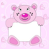 Rose smiling bear. Royalty Free Stock Image