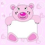 Rose smiling bear. Royalty Free Stock Image