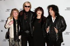 Rose Smith, Neal Smith, Sheryl Goddard, Alice Cooper Lizenzfreies Stockfoto