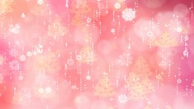 Rose Snowflakes and Christmas Tree Background stock video
