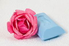 Rose and Soap Stock Image