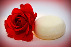 Rose soap Royalty Free Stock Photography