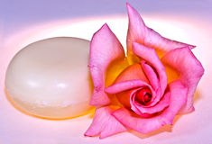 Rose soap Stock Images