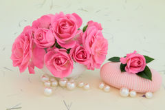 Rose Soap Stock Photography