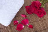 Rose spa concept Stock Image