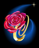 Rose in Space Royalty Free Stock Photos