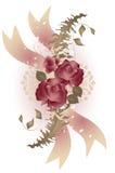 rose stilbyltetappning stock illustrationer