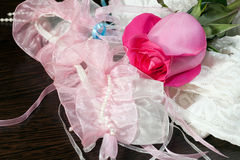 Rose and stockings Royalty Free Stock Photo