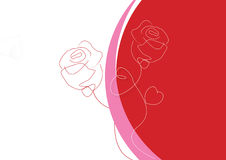 ROSE WITH STORKE GREETINGS Stock Images