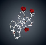 Rose. Stylized roses framed by beautiful pattern Royalty Free Illustration