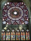 Rose sud de la cathedrale de Troyes (France) Image libre de droits