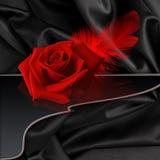 Rose sur le noir Image libre de droits