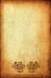 Rose sur le papier de cru avec l'espace Image libre de droits