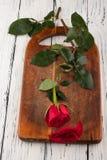 Rose sur les conseils Photos stock