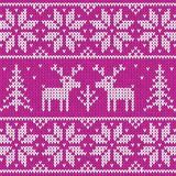 Rose sweater with deer vector ornament. Rose sweater with deer vector seamless pattern Stock Photography