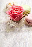 Rose and sweets valentine  background Stock Image