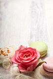 Rose and sweets valentine  background Stock Images