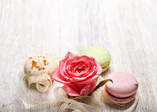 Rose and sweets valentine  background Royalty Free Stock Photo