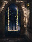 Rose swing fantasy background stock images