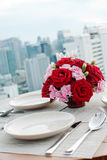 Rose table dunner Royalty Free Stock Photos