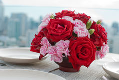 Rose table dunner Royalty Free Stock Photo