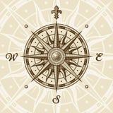 rose tappning för kompass Arkivfoto