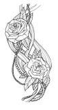 Rose tattoo Stock Photo