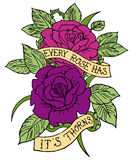 Rose Tattoo Design Image libre de droits