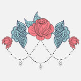 Rose Tattoo Pattern Stock Vector Illustration Of Nature 83805033
