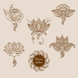 Rose tattoo pattern Stock Images