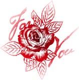 Rose tattoo print Stock Photo