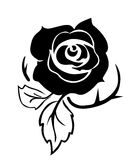 Rose tattoo Stock Images