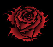 Rose tattoo style. Vector isolated rose tattoo style Royalty Free Stock Photo