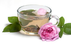 Rose and tea Stock Photo