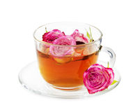 rose tea Arkivfoton