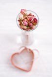 Rose tea buds in glass Royalty Free Stock Photos