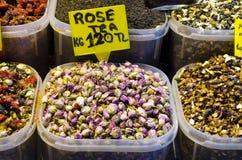 Rose tea in Egyptian Spice Bazaar Stock Image