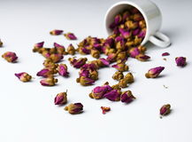 Rose Tea, getrocknetes Rosengetränk Stockfoto