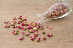 Rose Tea in glass bottle Royalty Free Stock Photos