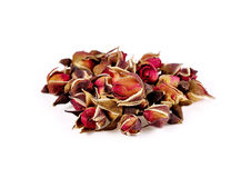 Rose tea isolated on white background Royalty Free Stock Photography