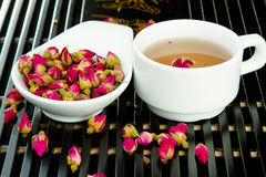 Rose tea in the white cup Royalty Free Stock Photo