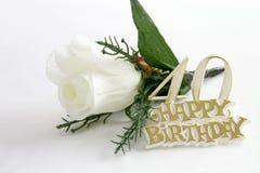 rose teckensilk för 40th födelsedag Royaltyfri Fotografi
