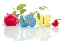 rose text för förälskelsered Royaltyfria Bilder