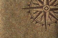 rose texturträ för kompass royaltyfri illustrationer