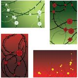 Rose and thorn backgrounds Royalty Free Stock Photography