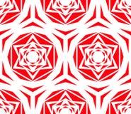 Rose Tile Pattern rouge géométrique Photographie stock libre de droits