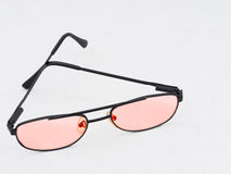 Rose tinted spectacles, glasses. Optimism. Stock Image