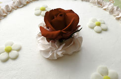Rose. On top of a cake Stock Image