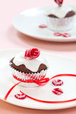 Rose Topped Muffin Royalty Free Stock Photo