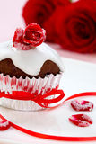 Rose Topped Muffin Royalty Free Stock Photos